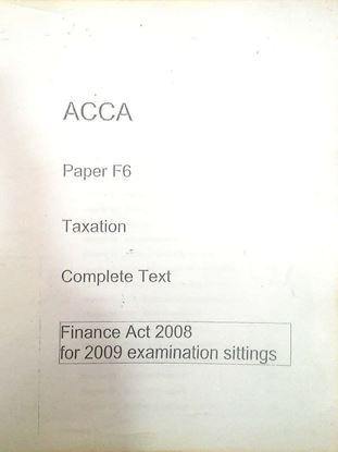 ACCA Paper F6 Taxation