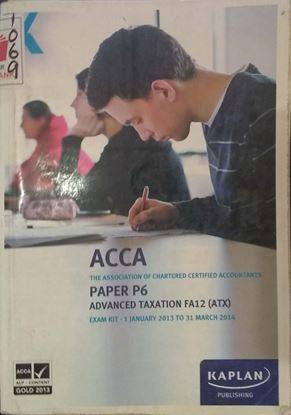 Picture of PAPER P6 ADVANCE TAXATION FA 12(ATX)
